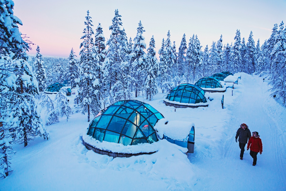 Igloos view from air Kakslauttanen lapland2
