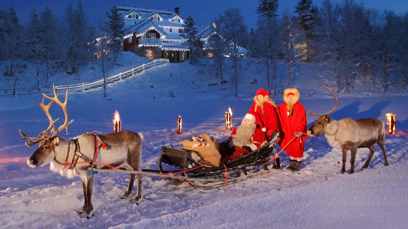Besuchen Sie das Zuhause des Weihnachtsmannes
