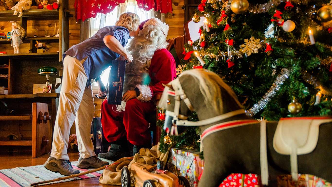Visita à casa do Papai Noel