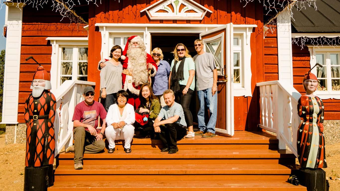 Visita la casa di Babbo Natale