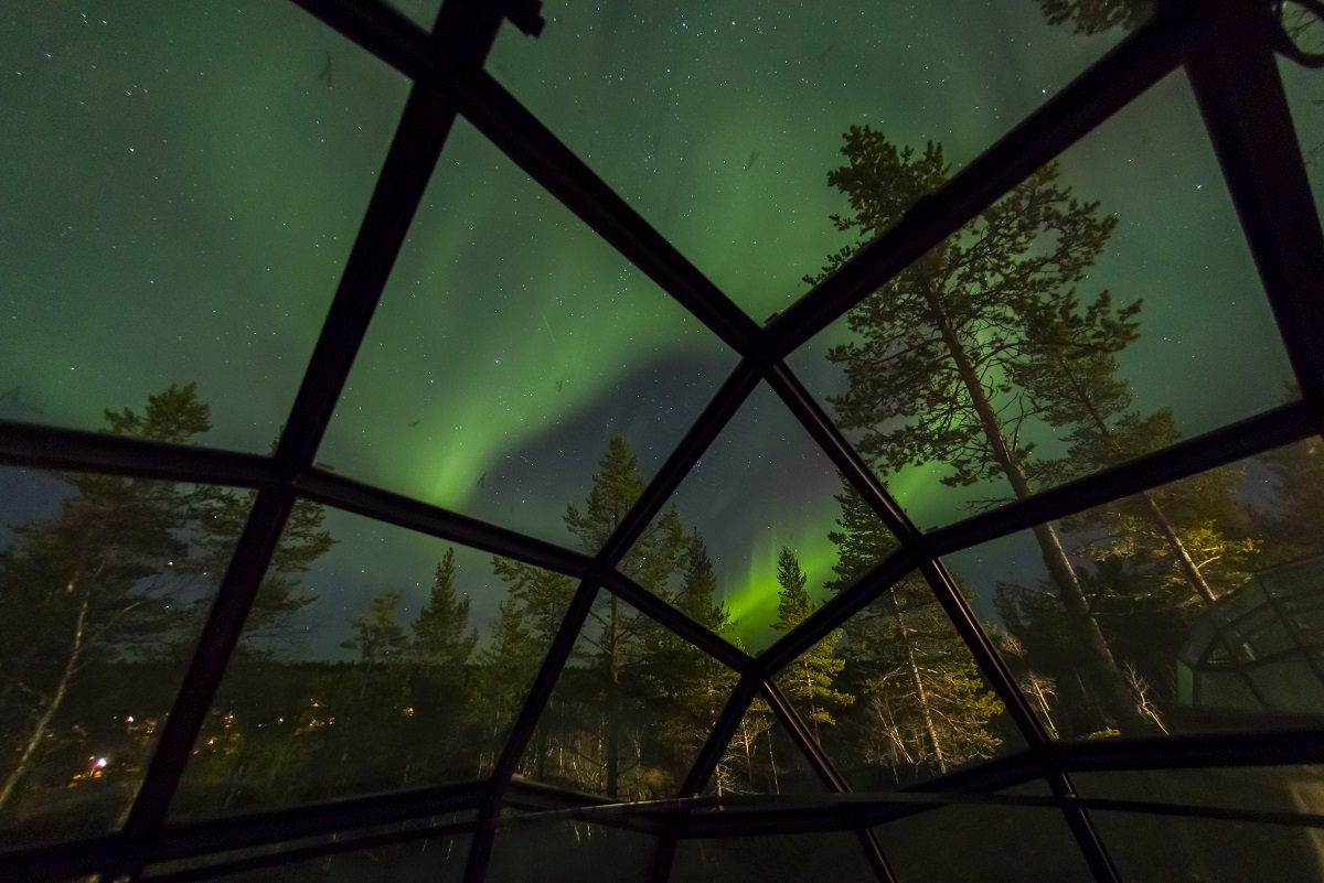 Autumn Northern Lights And Arctic Nature
